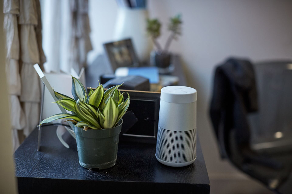 BOSE Soundlink Revolve bluetooth speaker, lifestyle