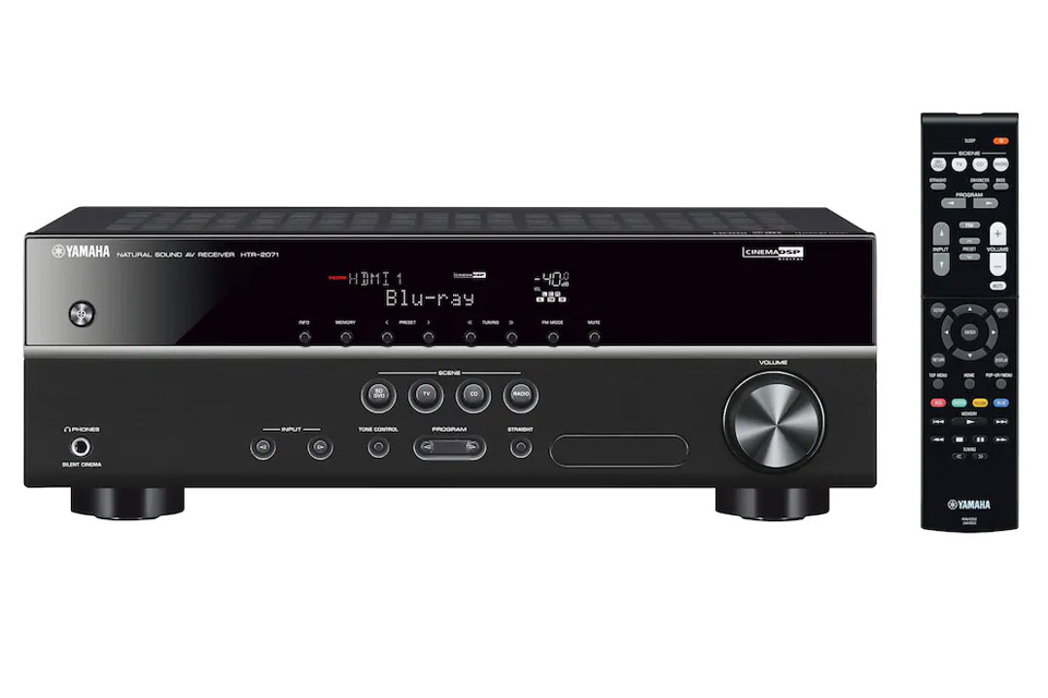Yamaha HTR-2071 surround receiver, black