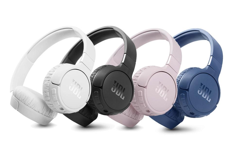 JBL Tune 660NC on-ear headphones, all