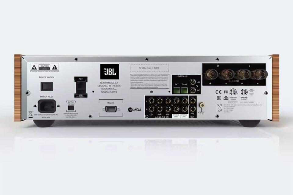 JBL SA750 integreated amplifier, back