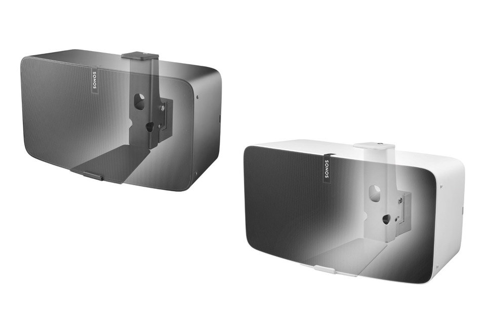Cavus horizontal wall bracket for Sonos PLAY:5/FIVE - Black and White