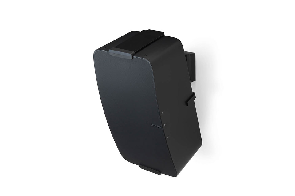 Flexson verticall wall mount for Sonos PLAY5 G2/3 and FIVE - Black