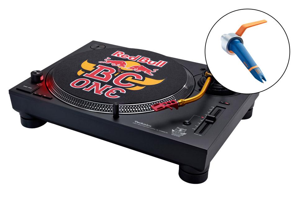 Technics SL-1210 Red Bull edition inkl. DJ pickup