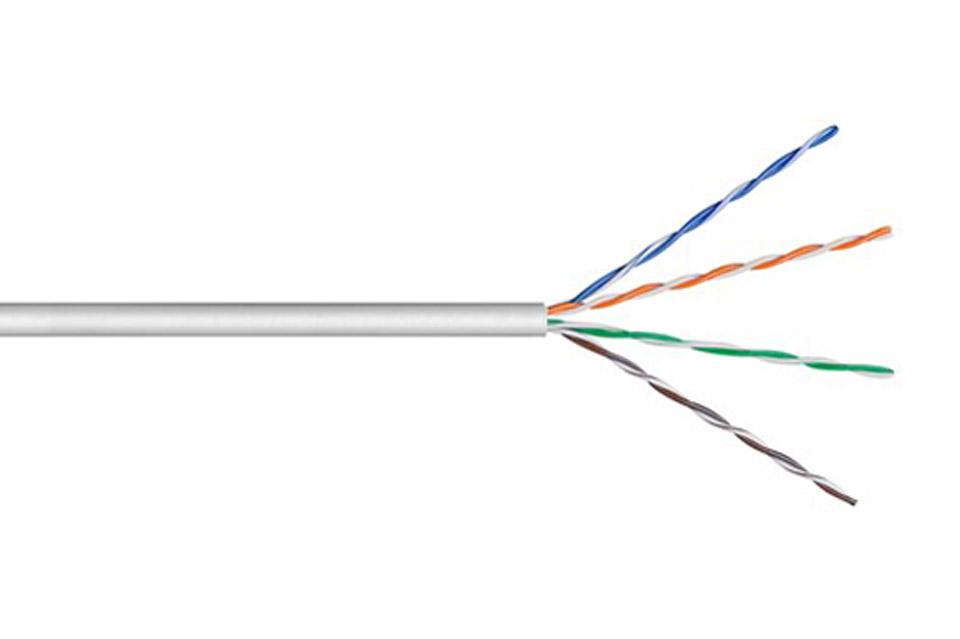 CAT 6 U-UTP network cable (Stranded, CCA) - Grey