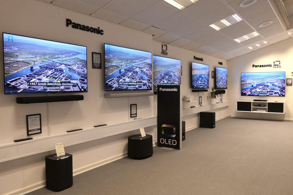 , AV-Connection Odense Butikken stuen: TV og soundbar