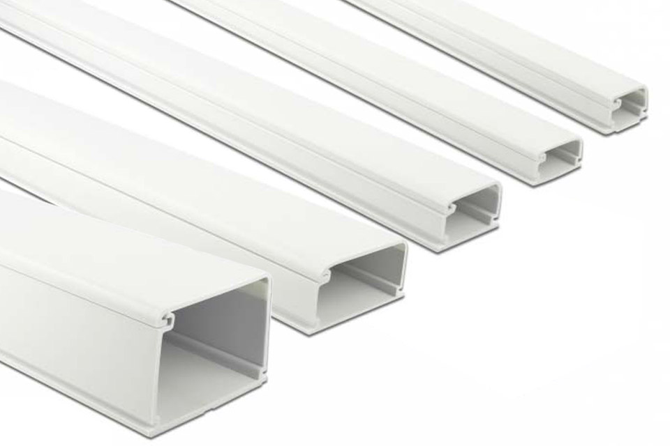 DeLock self-adhesive plastic cable ducts, all