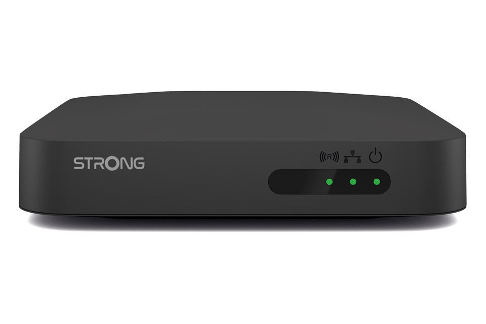 Strong LEAP-S1 Android TV box with 4K UHD and HDR - Front