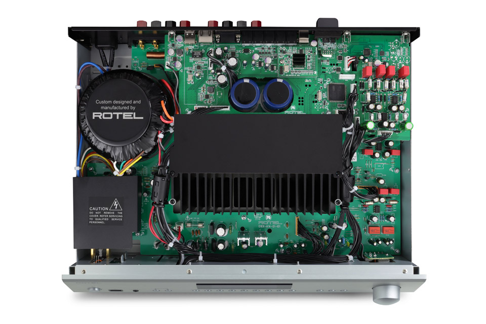 Rotel A14 MKII integrated amplifier, inside
