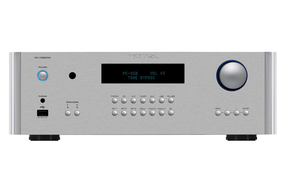 Rotel RA-1592 MKII integrated amplifier, silver