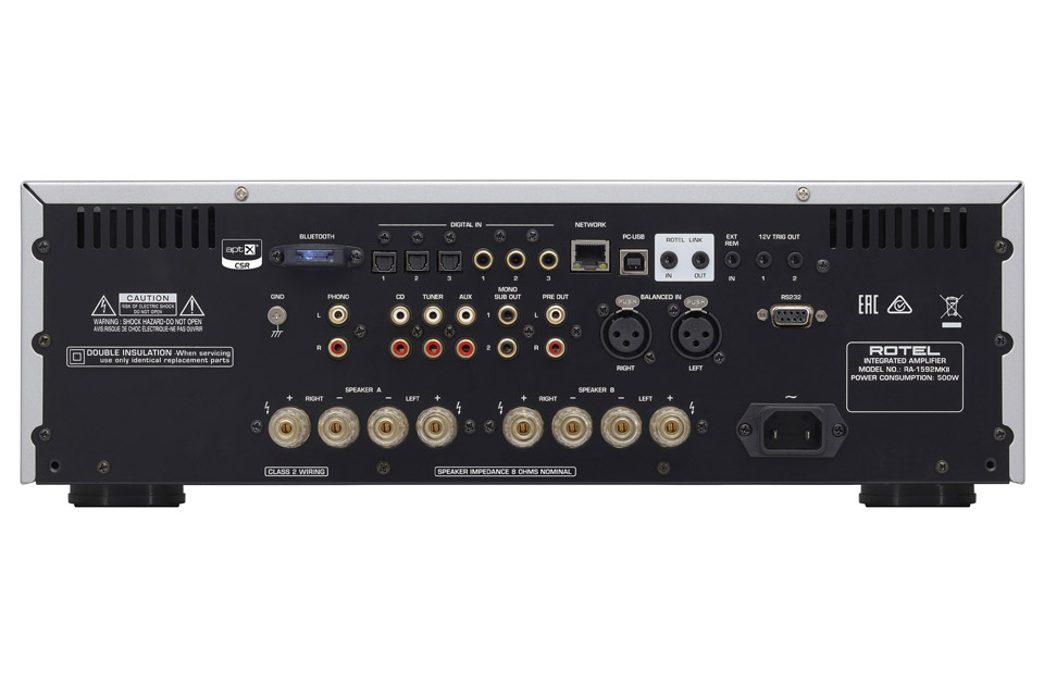Rotel RA-1592 MKII integrated amplifier, back