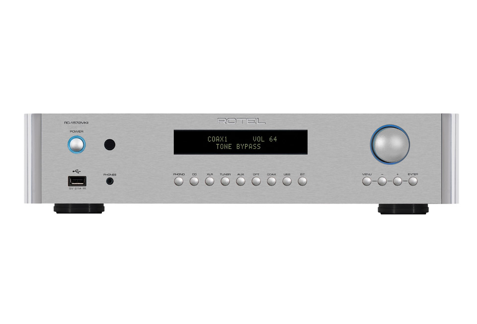 Rotel RC-1572MKII stereo preamplifier, silver