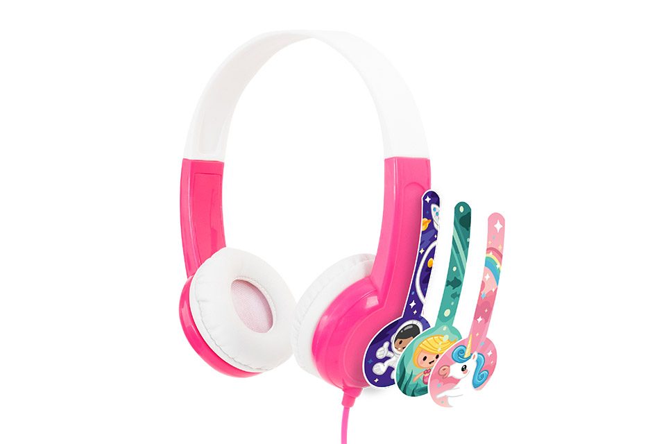 Buddy Phones Discover headphones, pink