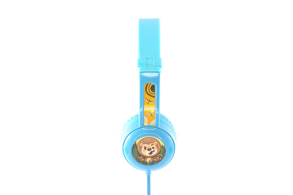 Buddy Phones Travel børnehovedtelefoner til rejser, blå