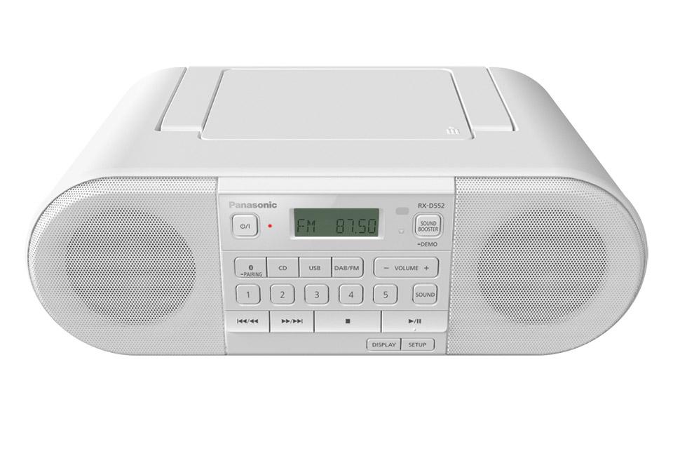 Panasonic RX-D552 ghettoblaster, white