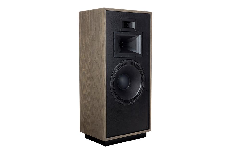 Klipsch Forte IV speaker, distressed oak