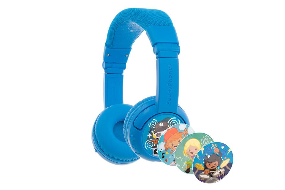 Buddy Phones Play+ headphones, blue