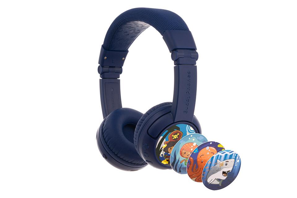 Buddy Phones Play+ headphones, deep blue