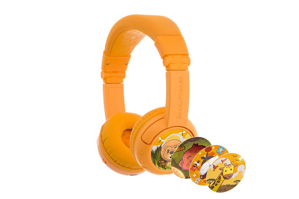 Buddy Phones Play+ headphones, yellow