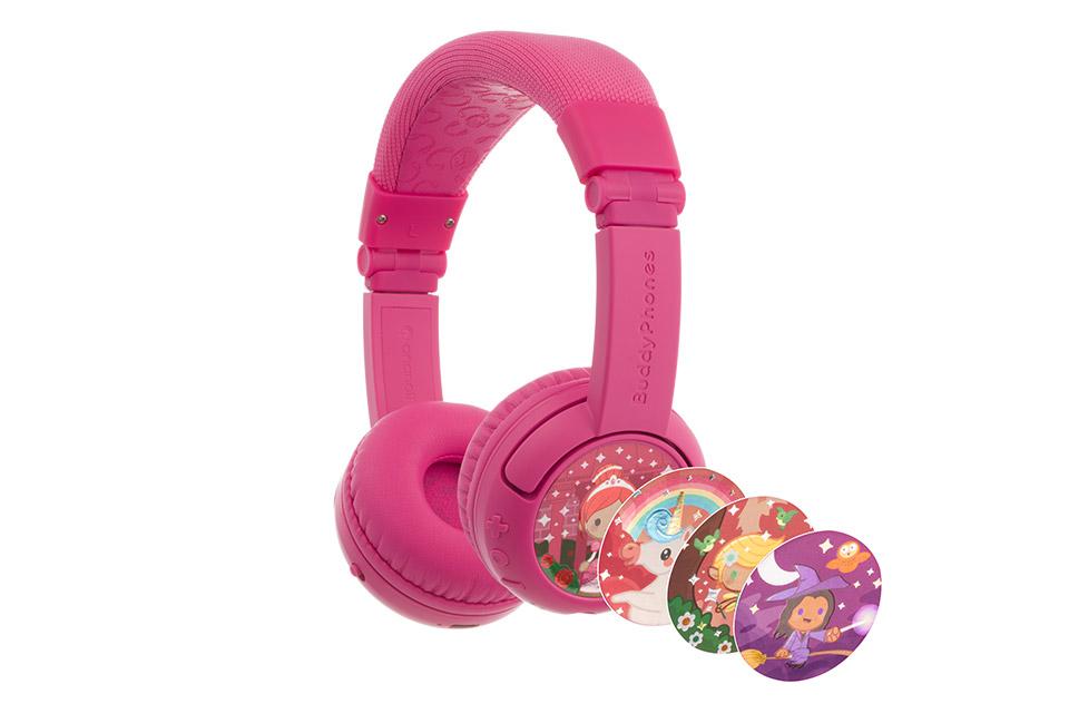Buddy Phones Play+ headphones, pink