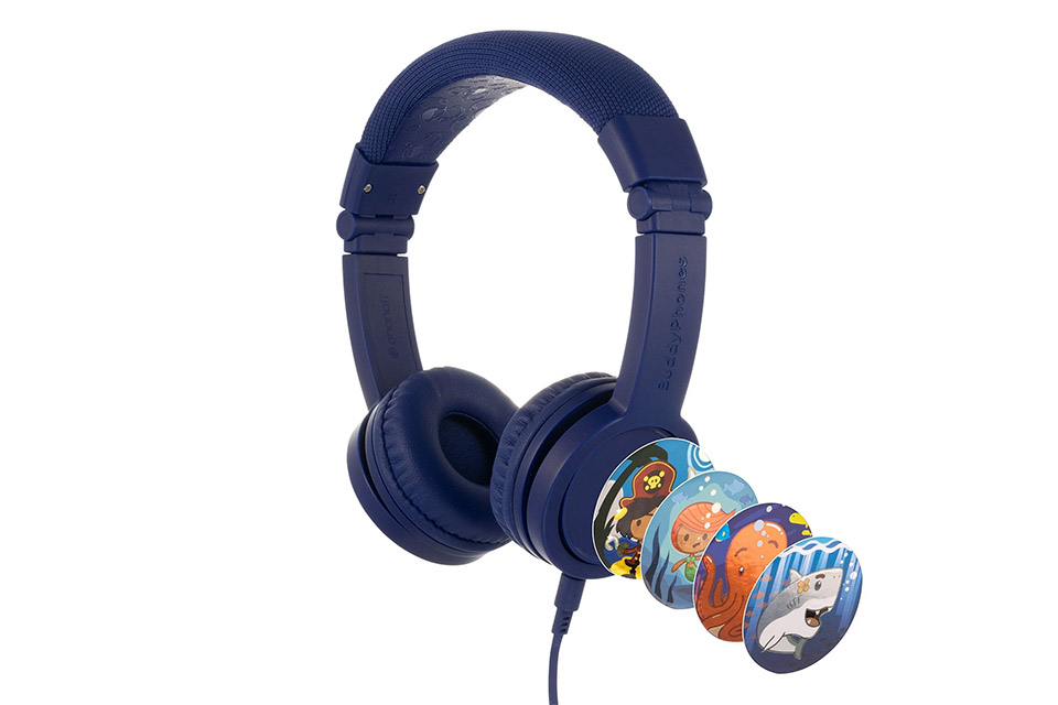 Buddy Phones Explore+ headphones, deep blue
