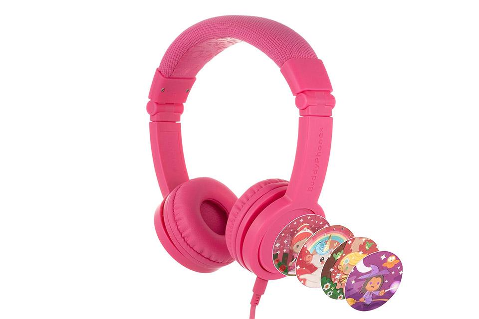 Buddy Phones Explore+ headphones, pink