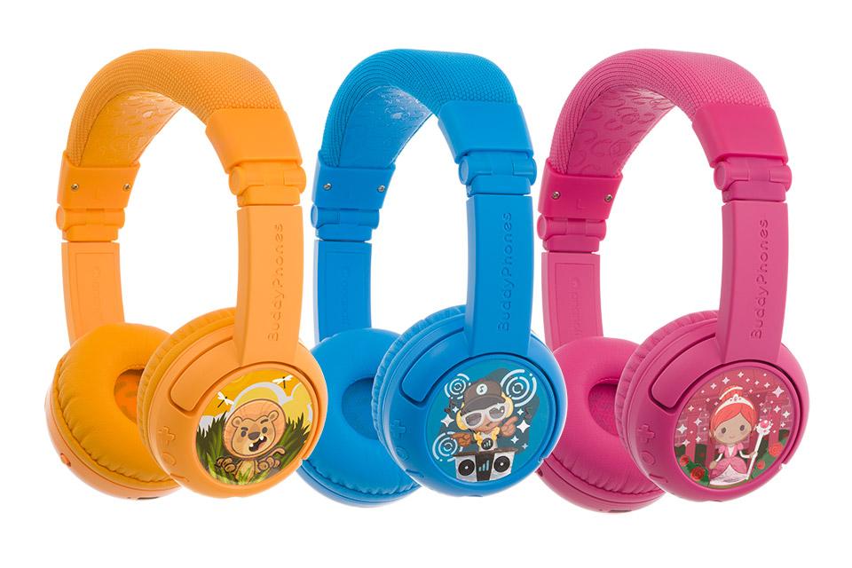 Buddy Phones Play+ headphones, all