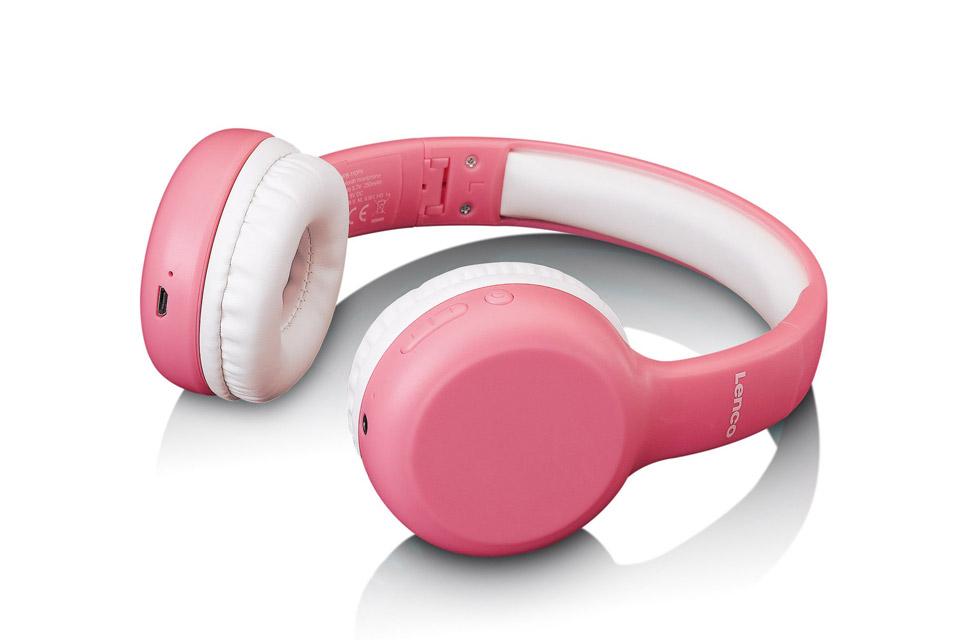 Lenco HPB-110 foldable kids Bluetooth headphone - Pink