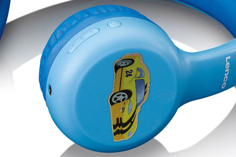 Lenco HPB-110 foldable kids Bluetooth headphone - Blue