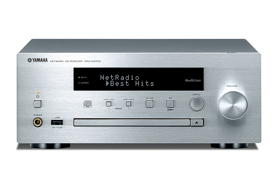 Yamaha CRX-N470D CD-receiver, silver