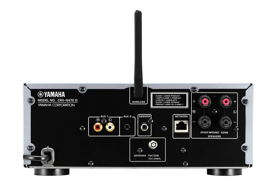 Yamaha CRX-N470D CD-receiver, back