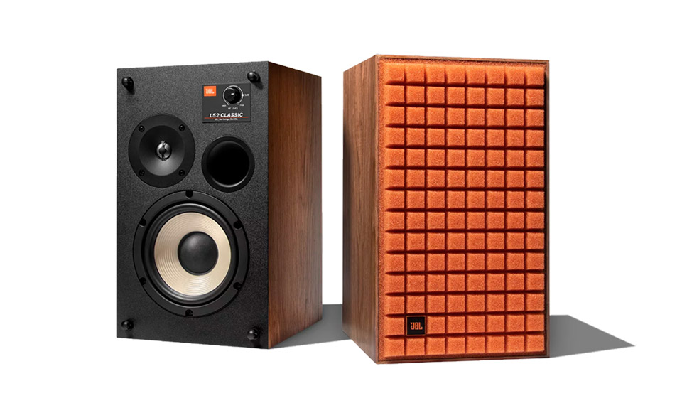 JBL Synthesis L52 speakers, orange