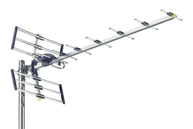 Meget udbredt type af kvalitets element antenne fra Danske Triax til områder med fornuftig dækning.
