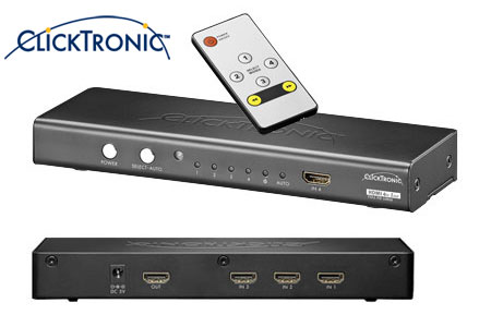 Quality HDMI switch with remote control for 4 or 6 HDMI units.