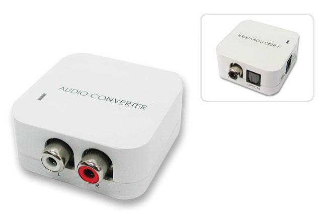 Smart lille DAC fra Lindy til forbindelse af f.eks. optisk TV lyd til stereo anlæget.