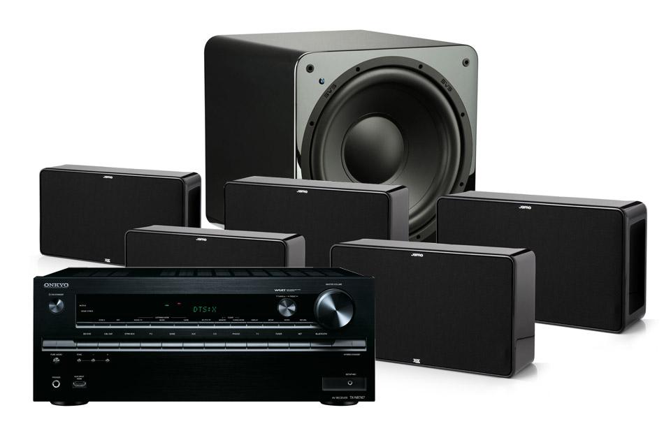 Vi har her sammensat en 5.1/7.1 surround pakkeløsning på Jamo´s D500 THX-godkendte serie og en kvalitets surround receiver fra Onkyo.