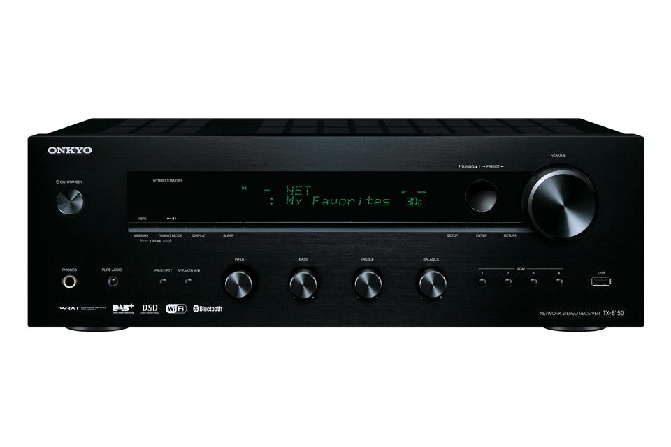Onkyo TX-8130 er en populær stereo receiver med kraftig forstærker og zone tilslutning og pladespiller indgang.