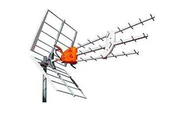 LTE godkendt DVB-T antenne med 45 elementer. 17 dB (passiv), 32 dB (aktiv) forstærkning med Boss teknik.