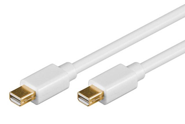 Mini Displayport kabel, hvid
