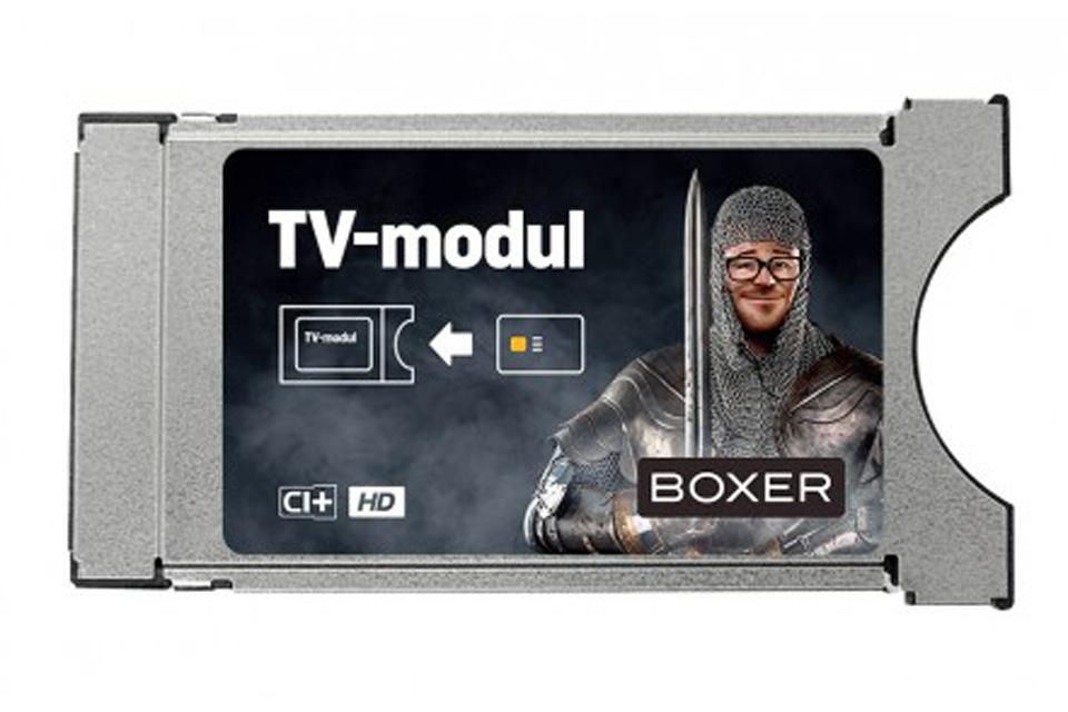 DVB-T2 Viaccess CI+ CAM modul (CAM) til TV via egen antenne for til Boxer TV programkort - Også til Boxer HD kanaler.