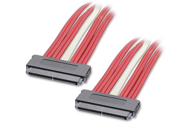 SAS multilane kabel med SFF-8484 stik i begge ender. Kablet benyttes internt i servere eller computere med SAS forbindelse.