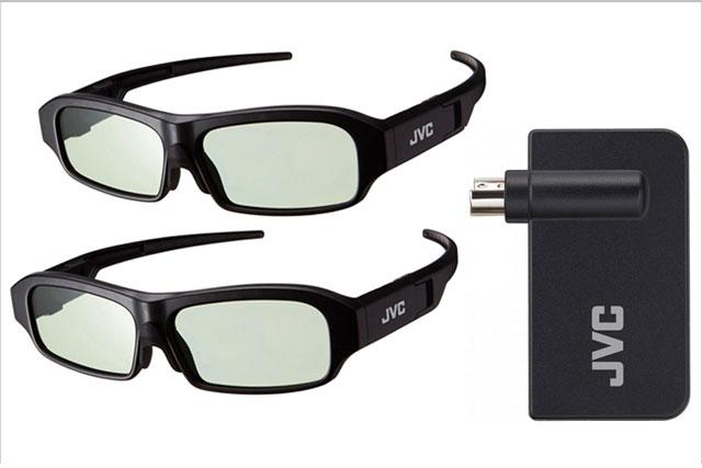 Pakke med 2x briller og 1x sender til JVC D-ILA projektorer. Se i beskrivelse hvilke modeller.