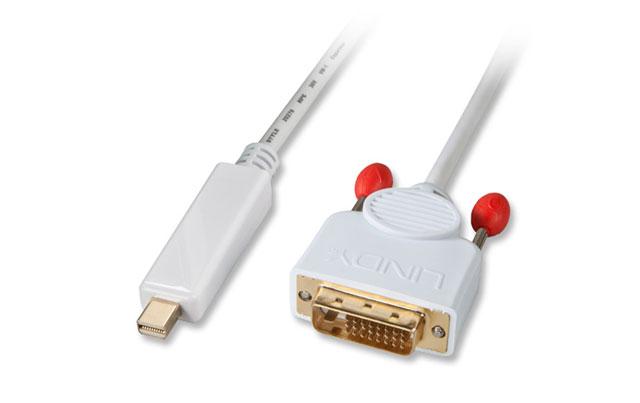 Mini Displayport til DVI kabel høj kvalitet fra Lindy.