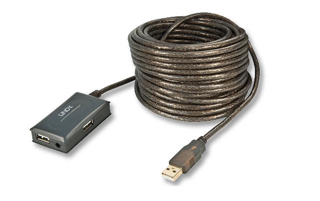 Denne USB booster fra Lindy, gør det muligt at koble op til 4 printere/scannere eller andet USB udstyr til en computer, der står 10 meter væk.