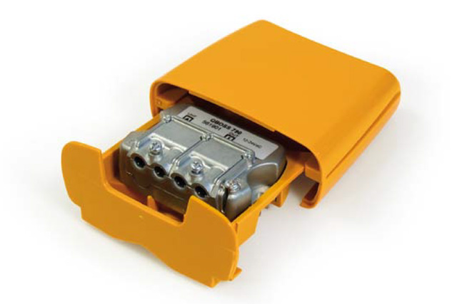 Udendørs LTE filter med 15 dB Boss teknik forstærker og Easy-F connector til kanal 21-60 (470-790 MHz).