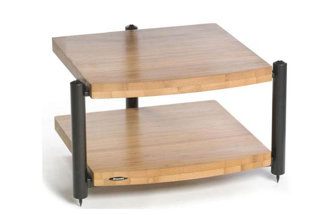 Eris Eco Hi-Fi grund møbel med 2 hylder. Hylderne er udført i Natur bambus materiale, som både er flot og ekstremt stabilt.