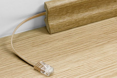 Wood structure network cable