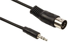 07-108 Din 5-Pin plug to 3.5 mm. MiniJack plug