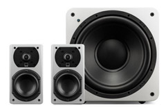 Stereo loudspeaker bundles with sub