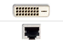 DVI - RJ45 Ethernet