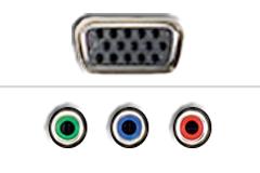 VGA - Komponent video
